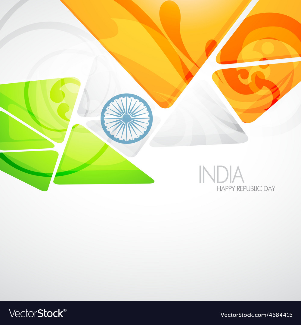 Creative indian flag vector | Price: 1 Credit (USD $1)