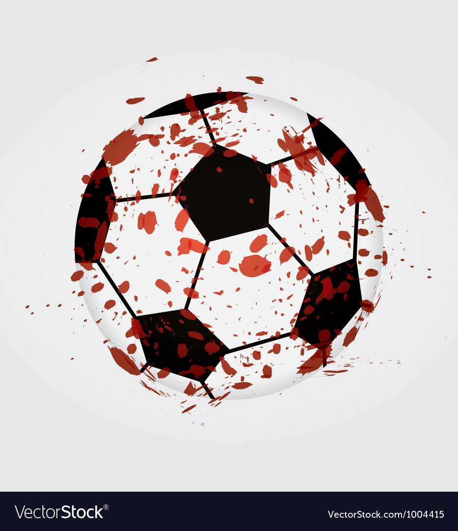 Dirty soccer ball vector | Price: 1 Credit (USD $1)