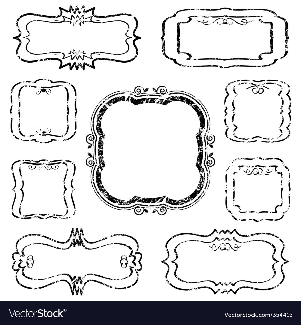 Distressed blank frames vector | Price: 1 Credit (USD $1)