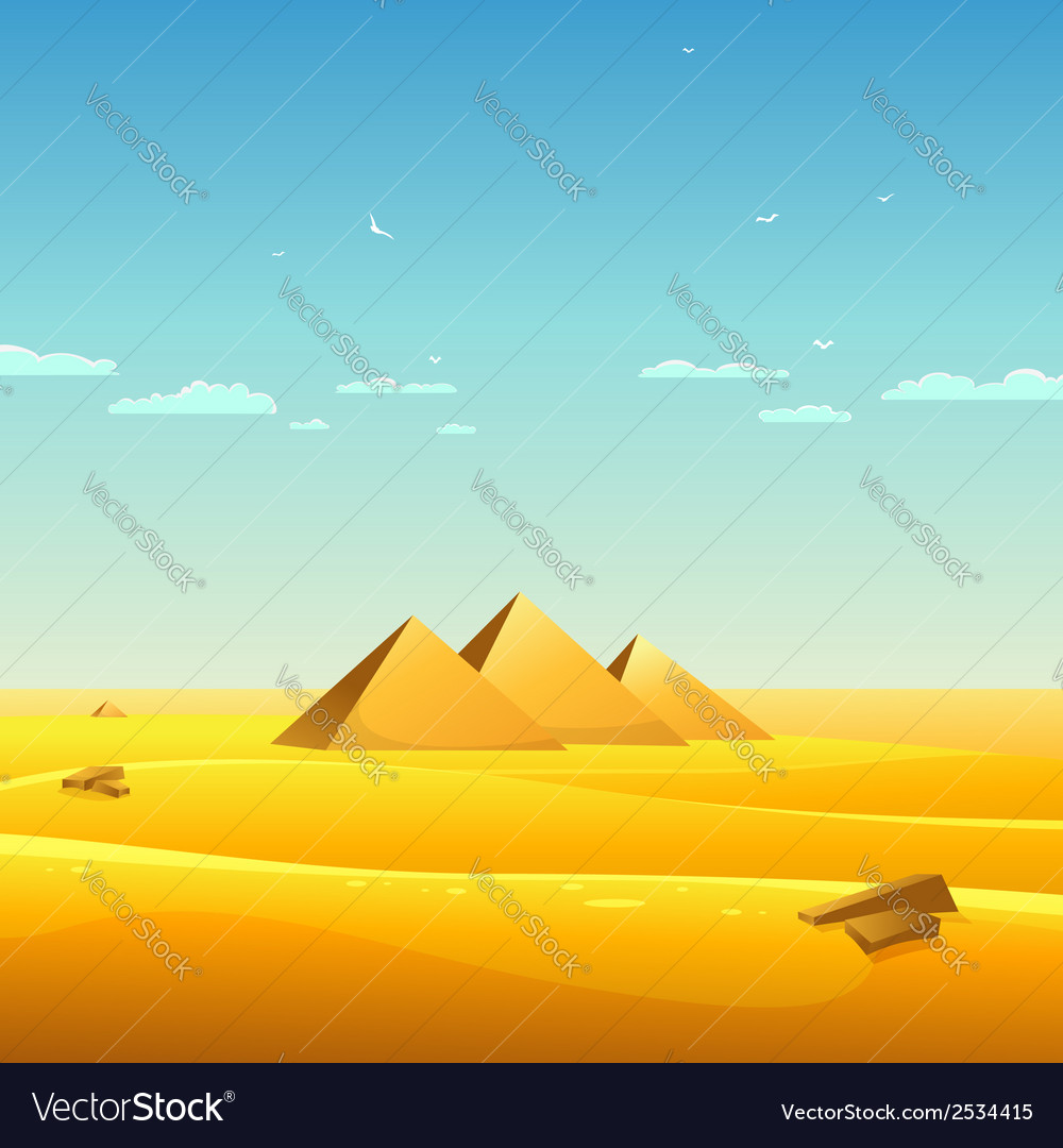 Egyptian pyramids vector | Price: 3 Credit (USD $3)