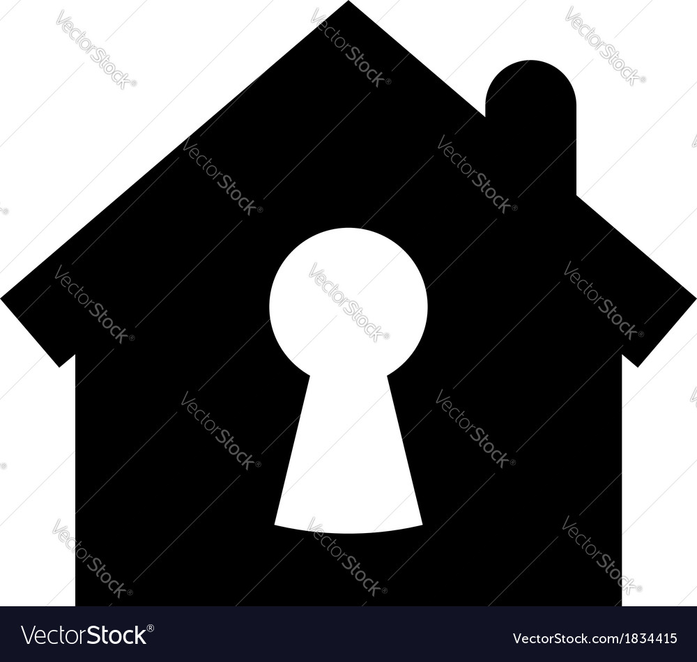 Home security icon vector | Price: 1 Credit (USD $1)