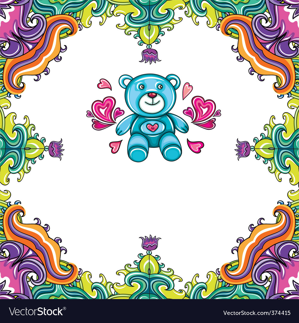Teddy bear framework vector | Price: 3 Credit (USD $3)