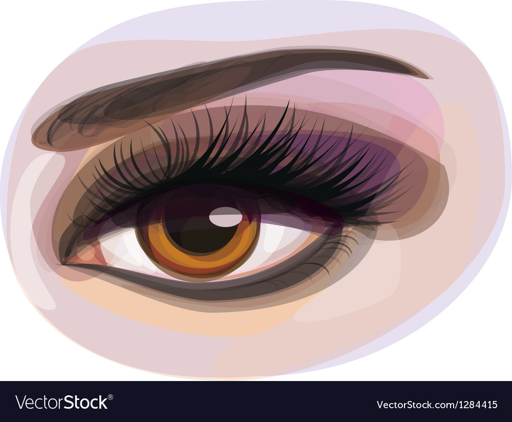 Womans eye vector | Price: 1 Credit (USD $1)