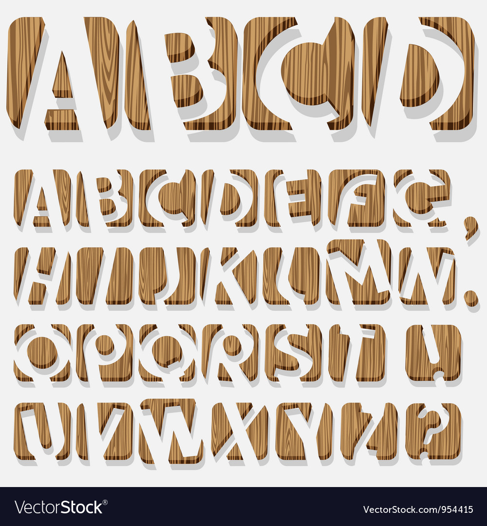 Wooden 3d alphabet vector | Price: 1 Credit (USD $1)