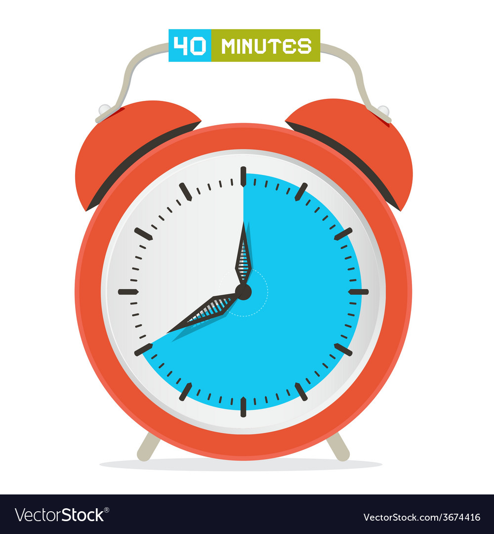 40 - forty minutes stop watch - alarm clock vector   Price: 1 Credit (USD $1)
