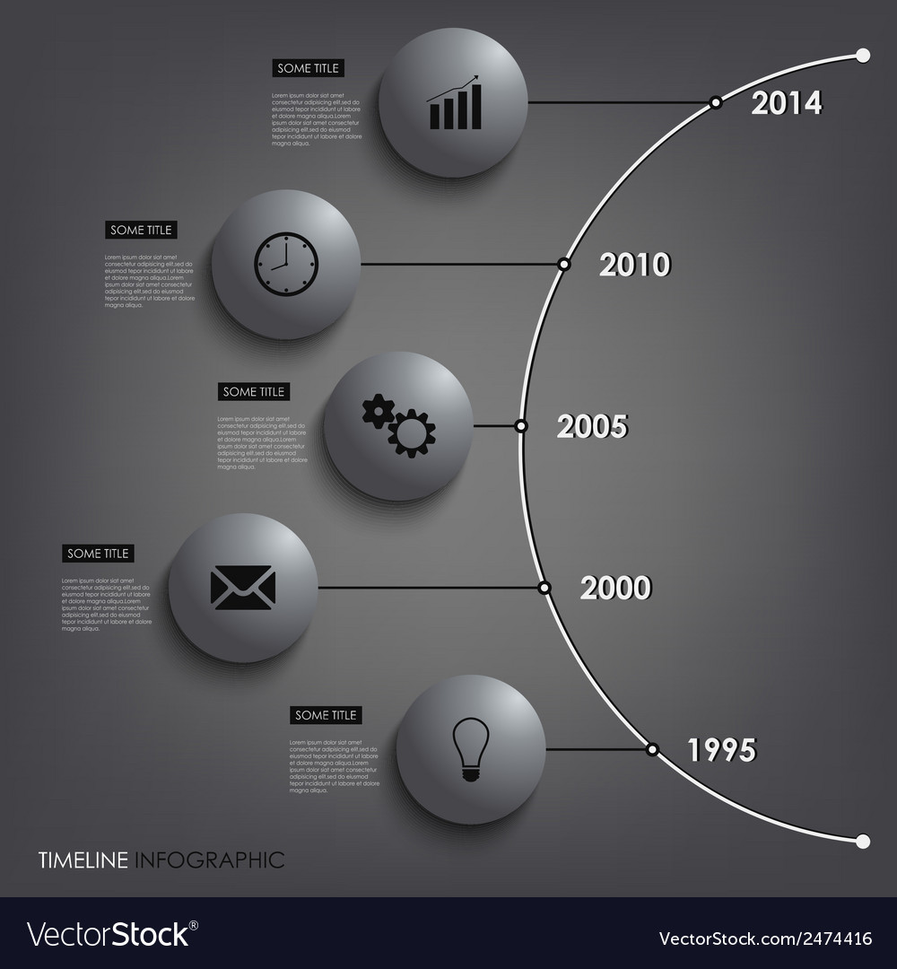 Abstract info graphic time line round element vector | Price: 1 Credit (USD $1)