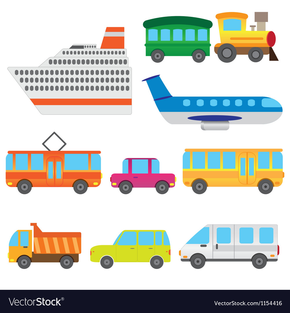 Cartoon vehicles vector | Price: 1 Credit (USD $1)