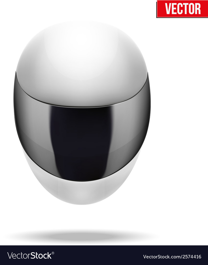 High quality light white motorcycle helmet vector   Price: 1 Credit (USD $1)