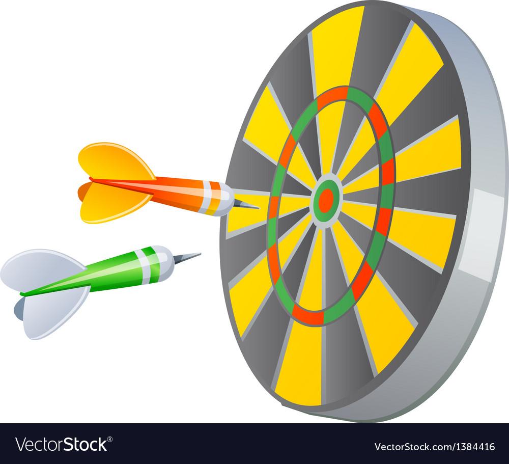 Icon dartboard vector | Price: 1 Credit (USD $1)