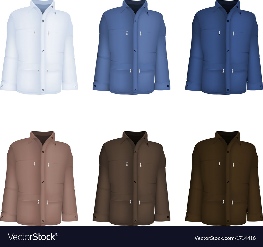 Plain long sleeve jacket template vector | Price: 1 Credit (USD $1)