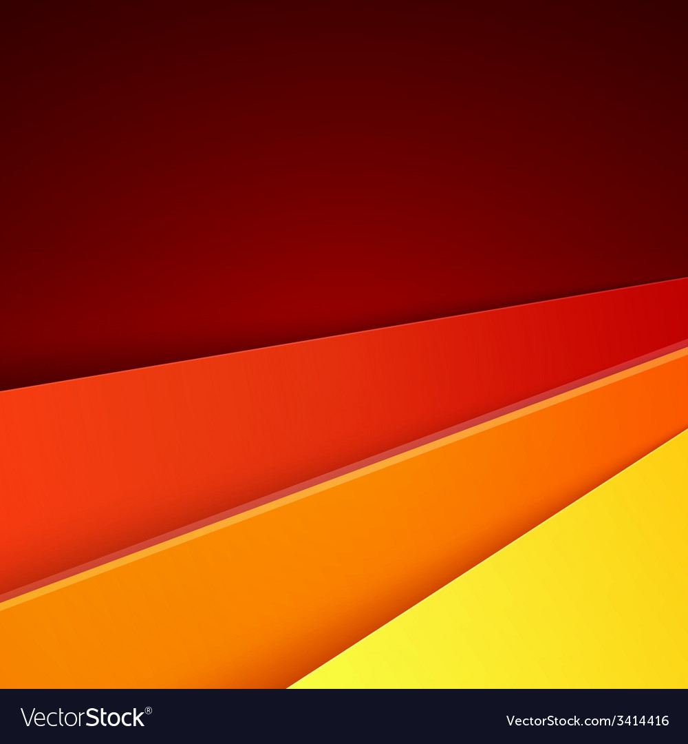 Red orange and yellow paper layers abstract vector | Price: 1 Credit (USD $1)