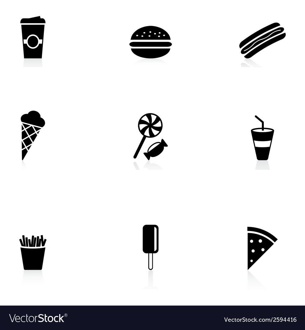 Snack icons vector | Price: 1 Credit (USD $1)