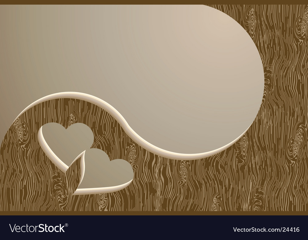 Two wooden hearts vector | Price: 1 Credit (USD $1)
