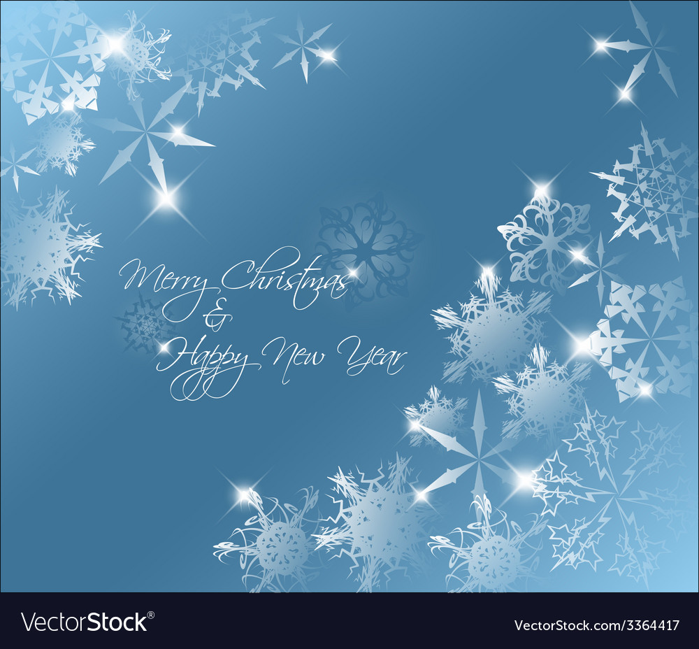 Blue abstract christmas background vector | Price: 1 Credit (USD $1)