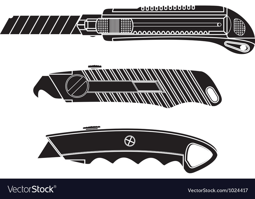 Cutter knifes stencil vector | Price: 1 Credit (USD $1)