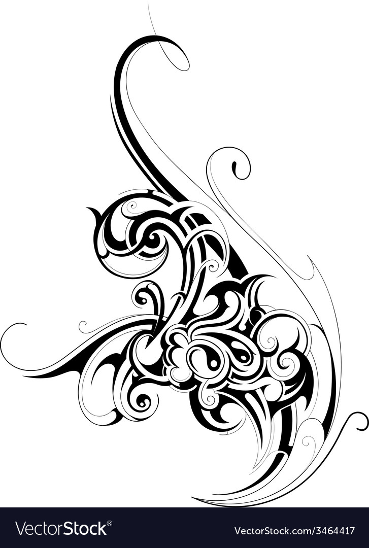 Floral abstraction vector | Price: 1 Credit (USD $1)