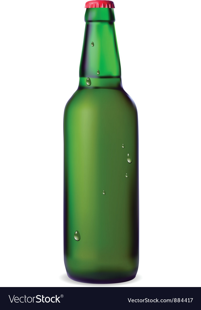 Green bottle of beer vector | Price: 1 Credit (USD $1)