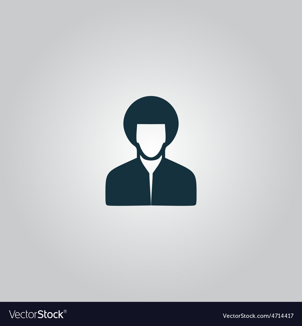 Hippi man icon vector | Price: 1 Credit (USD $1)