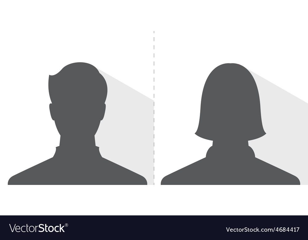 Male and female avatar profile picture silhouette vector | Price: 1 Credit (USD $1)