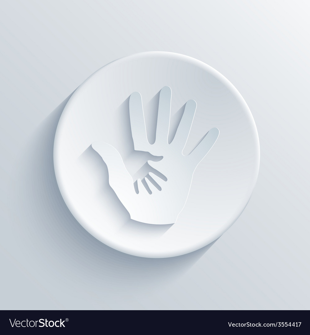 Modern hands light circle icon vector | Price: 1 Credit (USD $1)