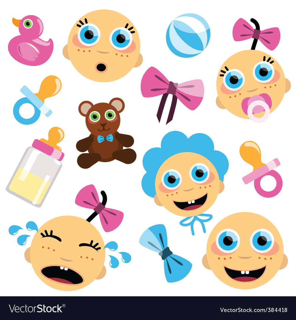 Baby face icon vector | Price: 1 Credit (USD $1)