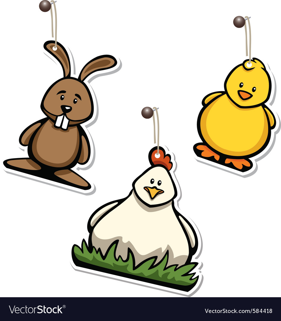 Easter hangtags vector | Price: 1 Credit (USD $1)