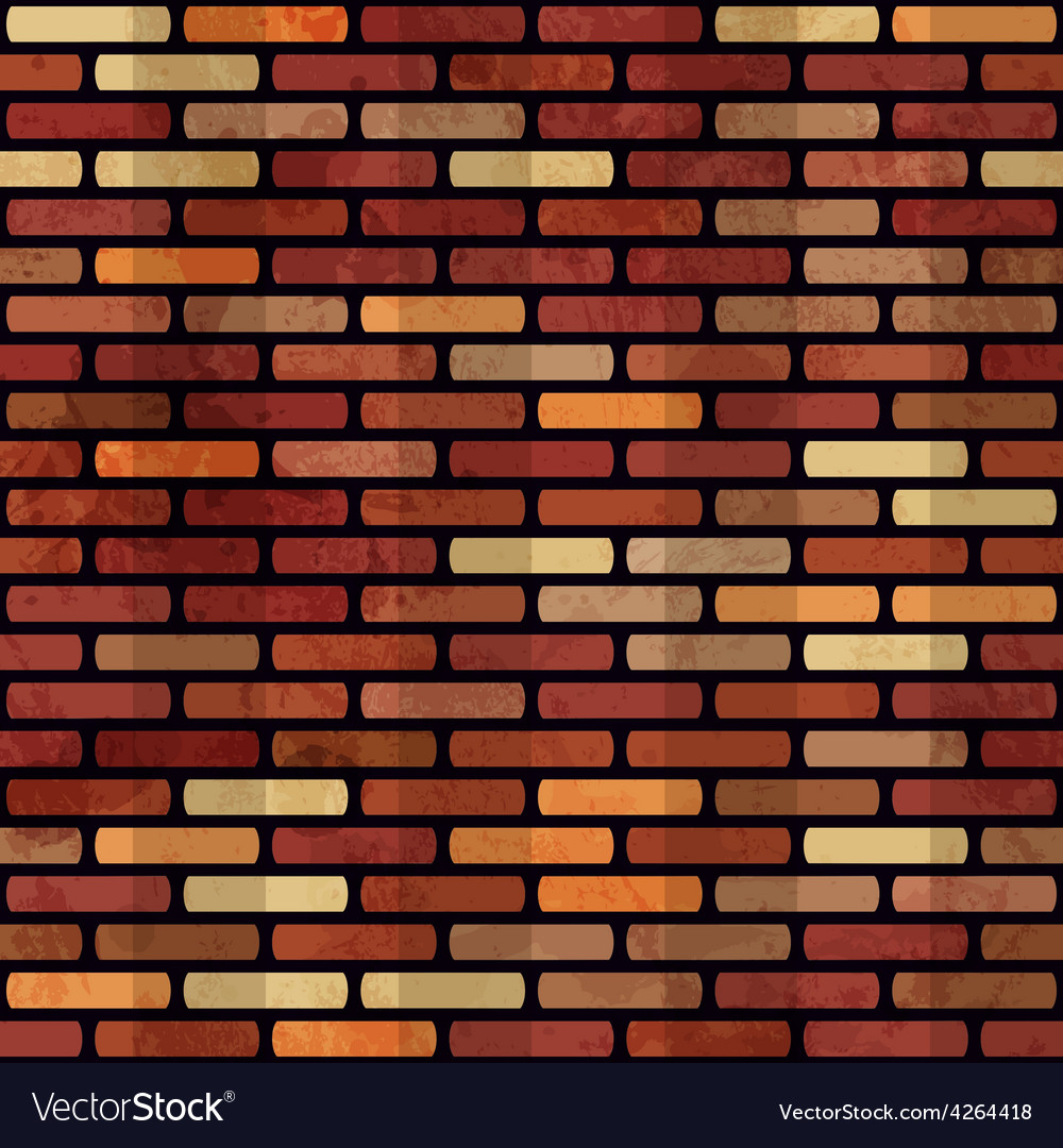 Grunge red brick wall seamless vector | Price: 1 Credit (USD $1)