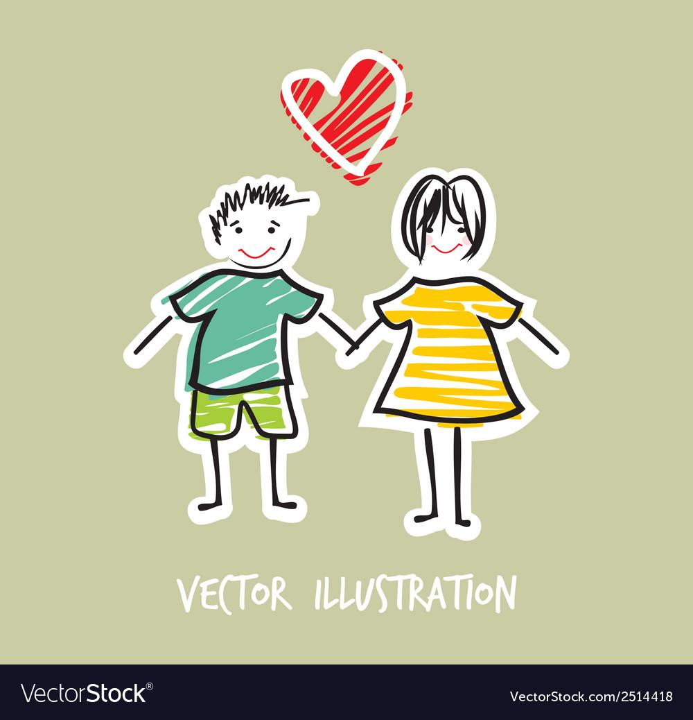 Handdraw familija2 vector | Price: 1 Credit (USD $1)