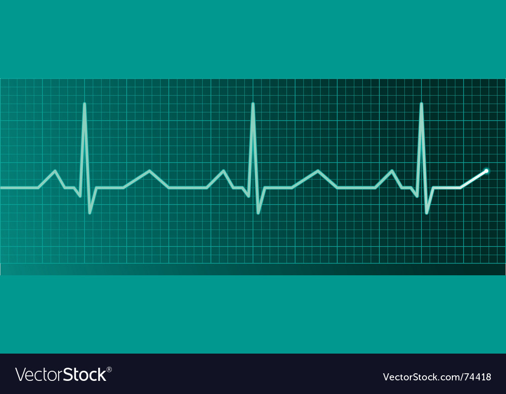 Heart pulse monitor vector | Price: 1 Credit (USD $1)