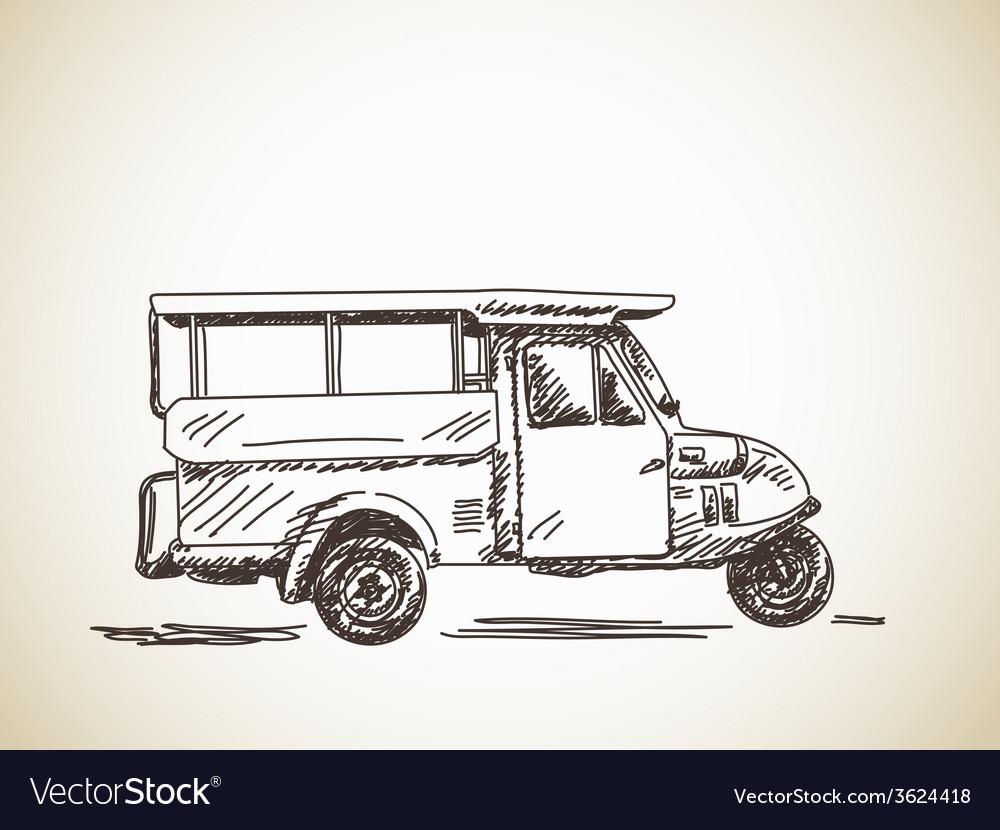 Motorcycle rickshaw vector | Price: 1 Credit (USD $1)