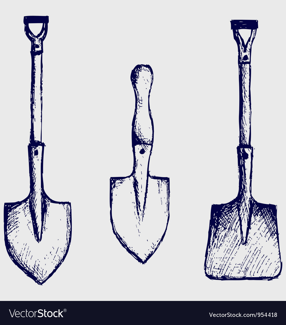 Shovel sketch vector | Price: 1 Credit (USD $1)