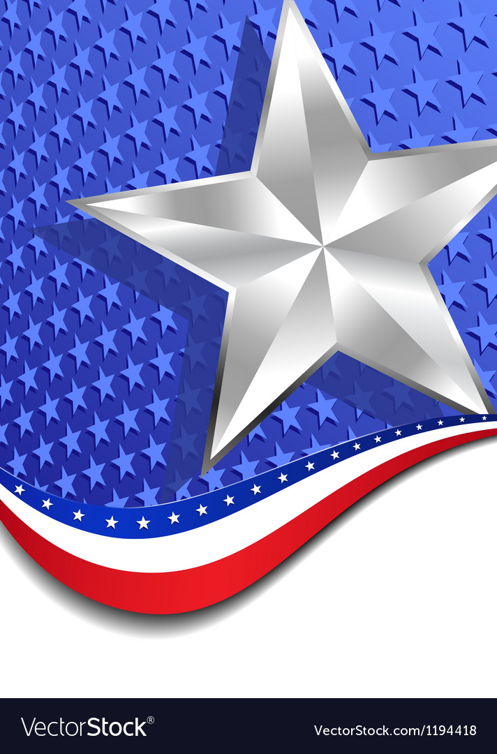 Stars and stripes portrait silver star vector   Price: 1 Credit (USD $1)