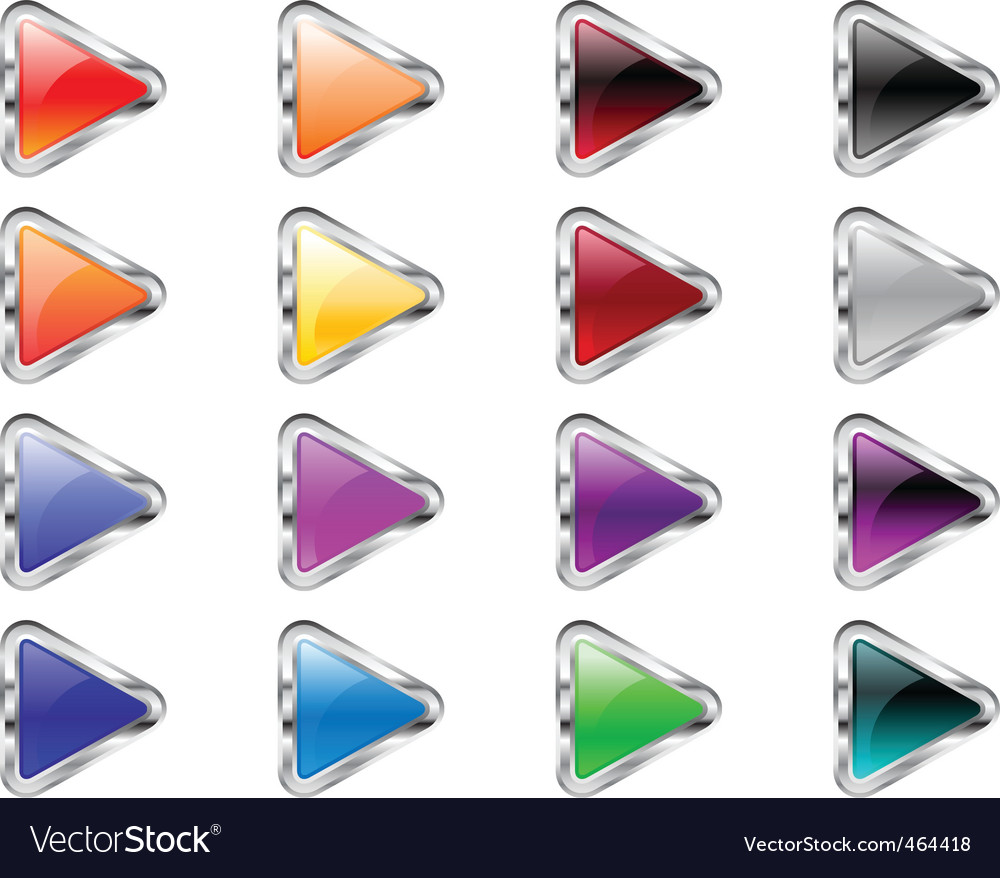Triangle arrow buttons vector | Price: 1 Credit (USD $1)