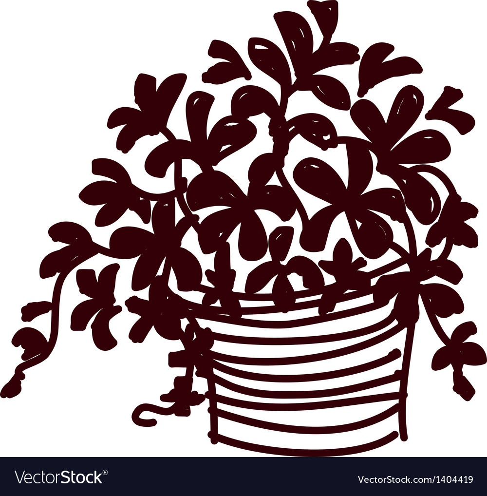A view of flower pot vector   Price: 1 Credit (USD $1)