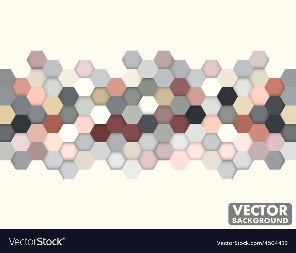 Abstract honeycomb hexagon background vintage vector