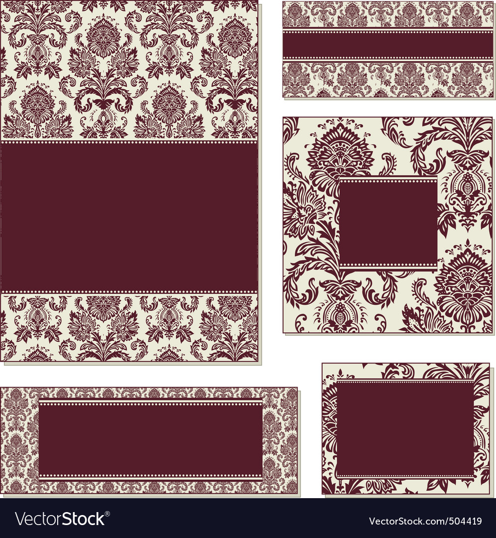 burgundy open frame set vector | Price: 1 Credit (USD $1)