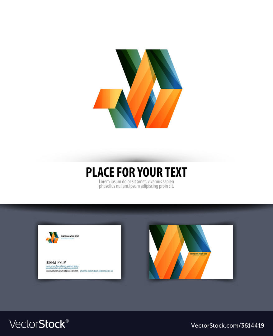 Business logo icon emblem template business card vector | Price: 1 Credit (USD $1)