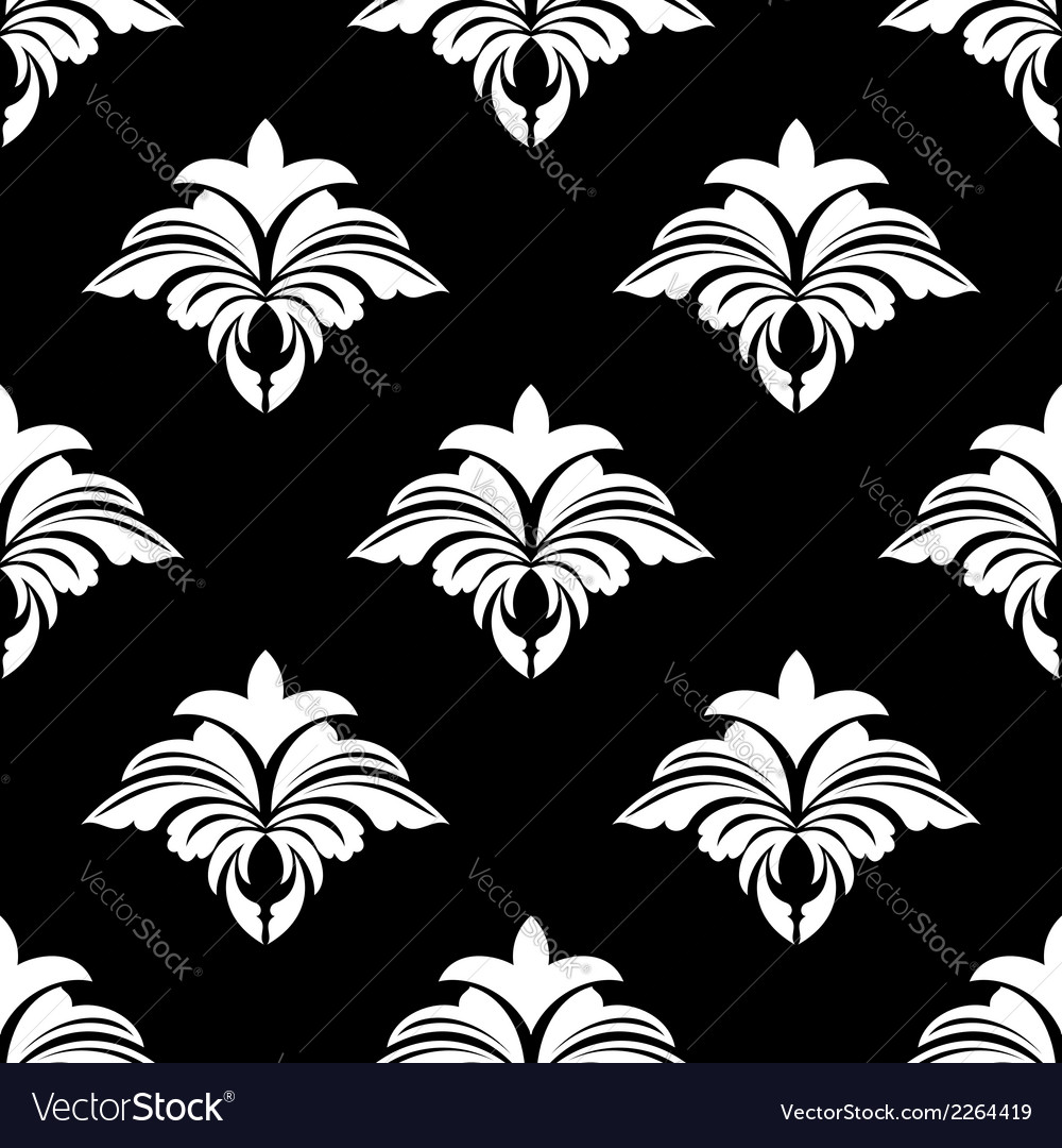 Classic retro seamless floral pattern vector | Price: 1 Credit (USD $1)