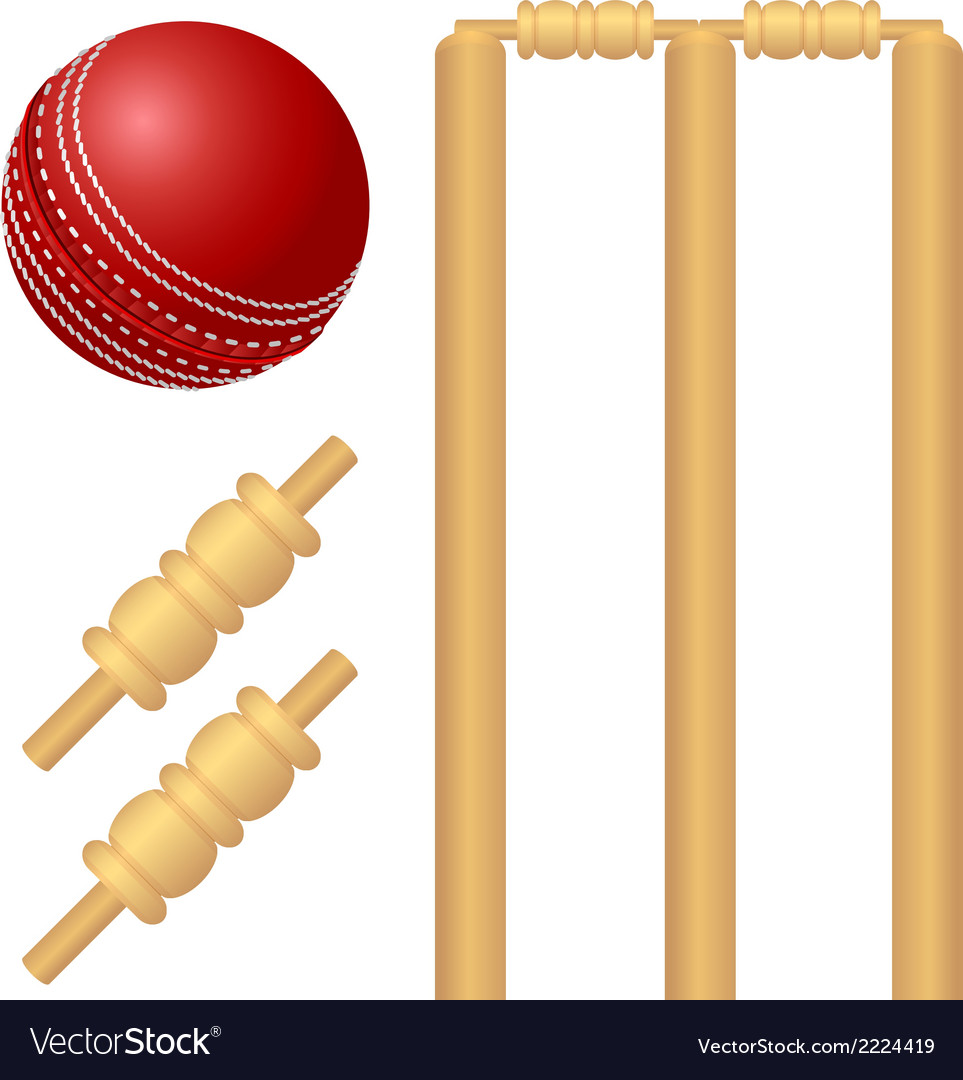 Cricket ball and stump vector | Price: 1 Credit (USD $1)
