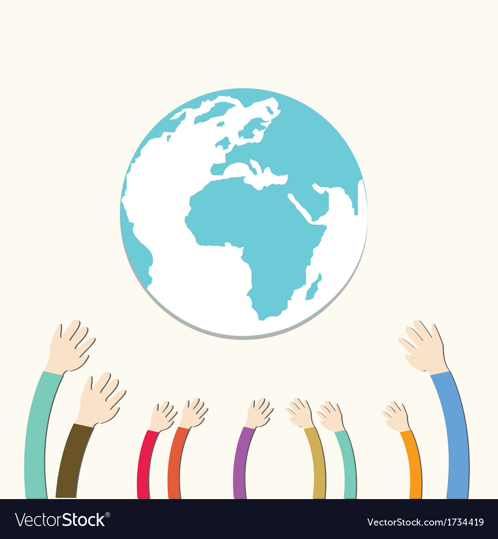 Hands save the earth vector | Price: 1 Credit (USD $1)