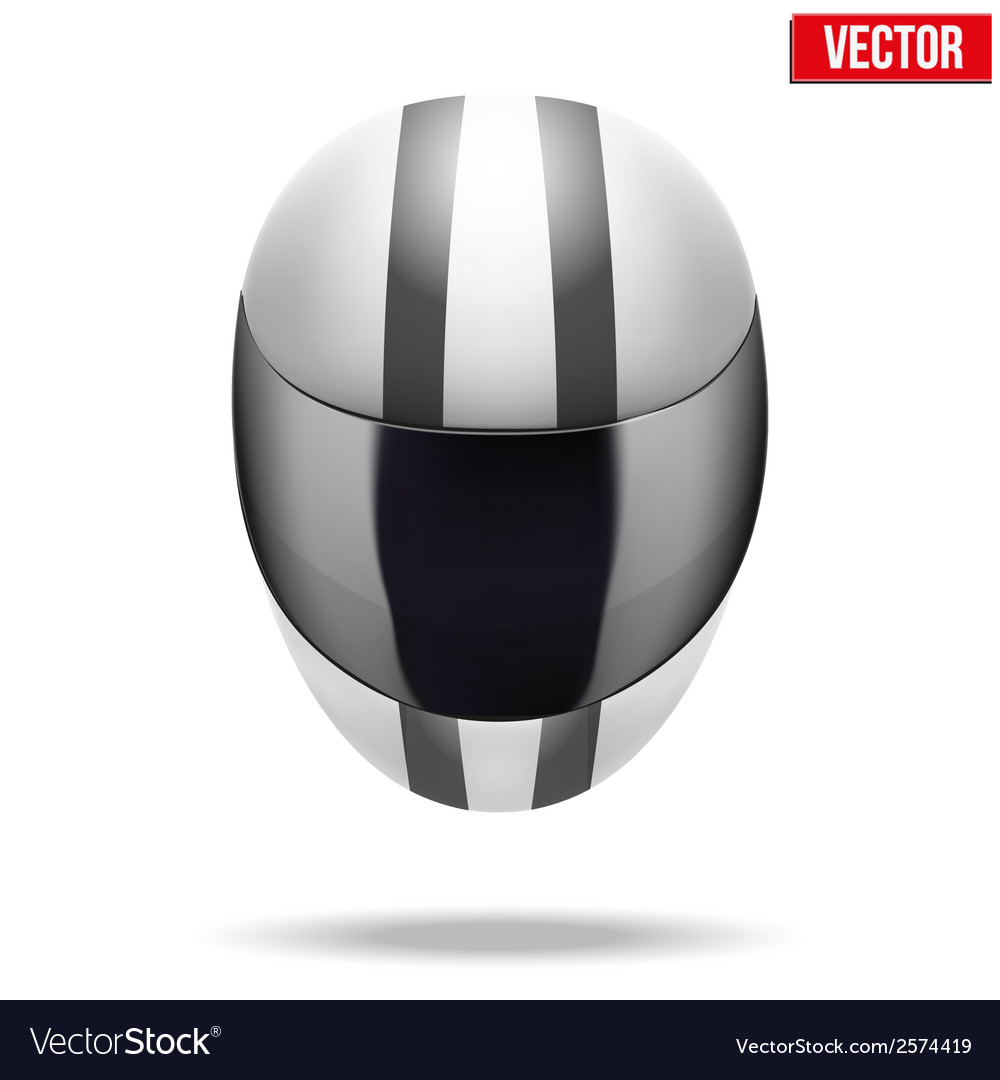 High quality light white motorcycle helmet vector | Price: 1 Credit (USD $1)