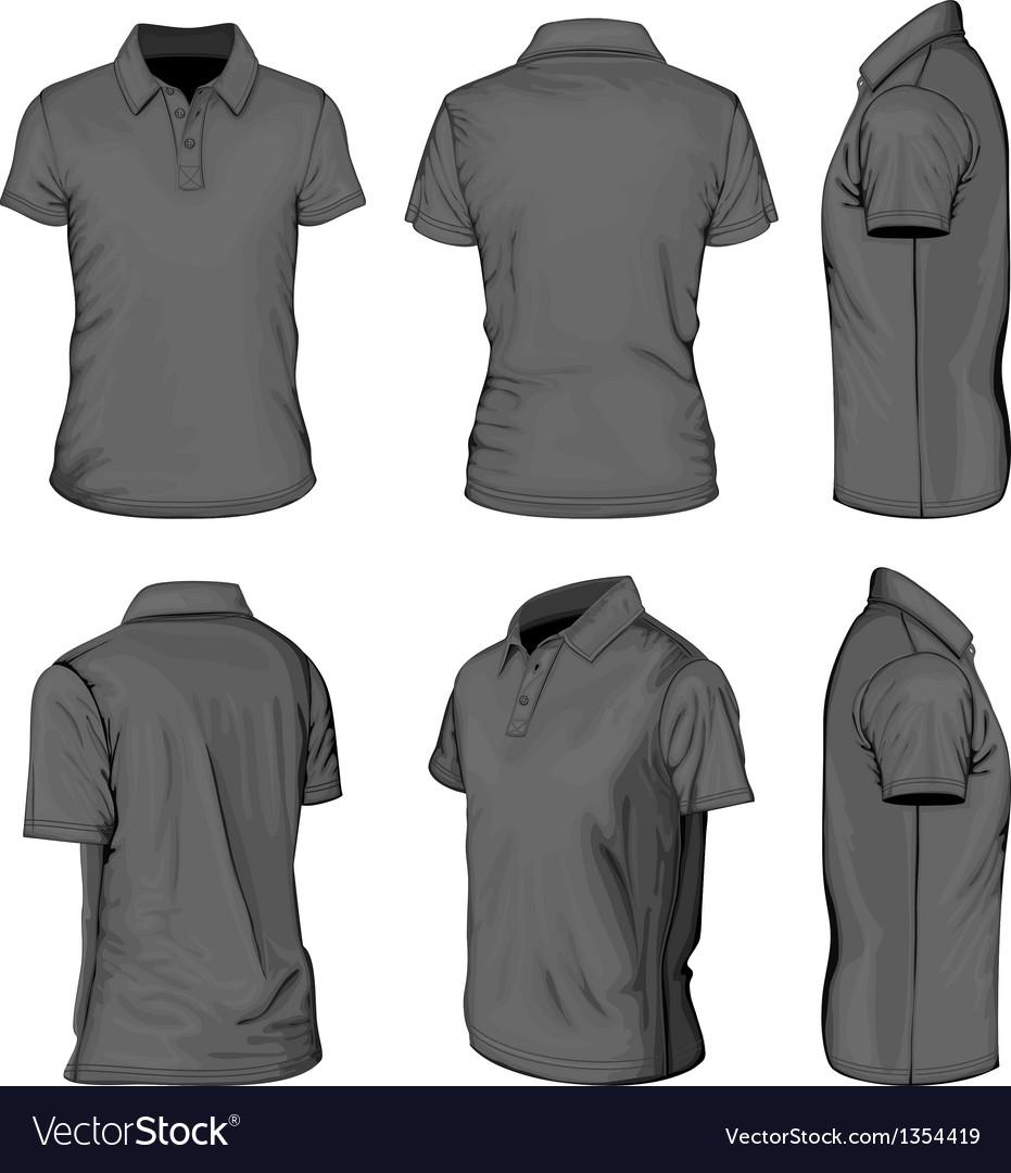 Mens black short sleeve polo-shirt vector | Price: 1 Credit (USD $1)