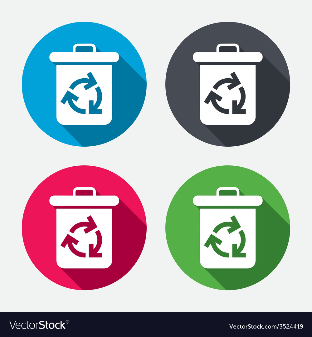 Recycle bin icon reuse or reduce symbol vector | Price: 1 Credit (USD $1)