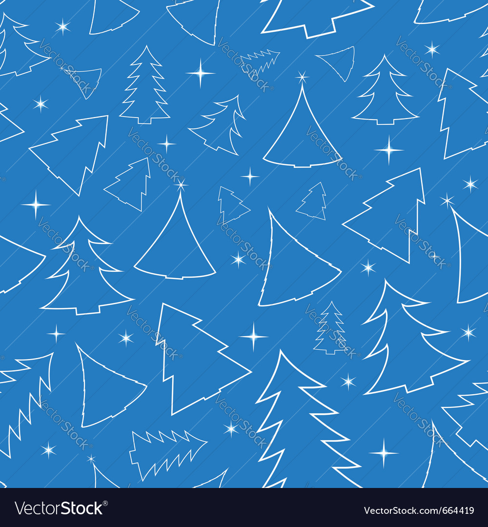 Seamless background with christmas trees vector | Price: 1 Credit (USD $1)