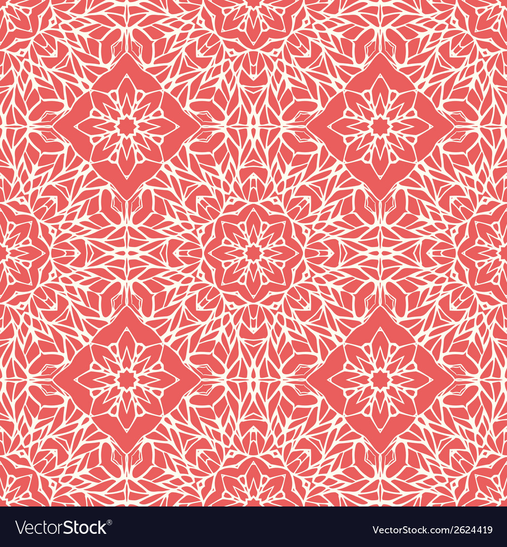 Seamless pattern with ethnic lace ornament vector | Price: 1 Credit (USD $1)