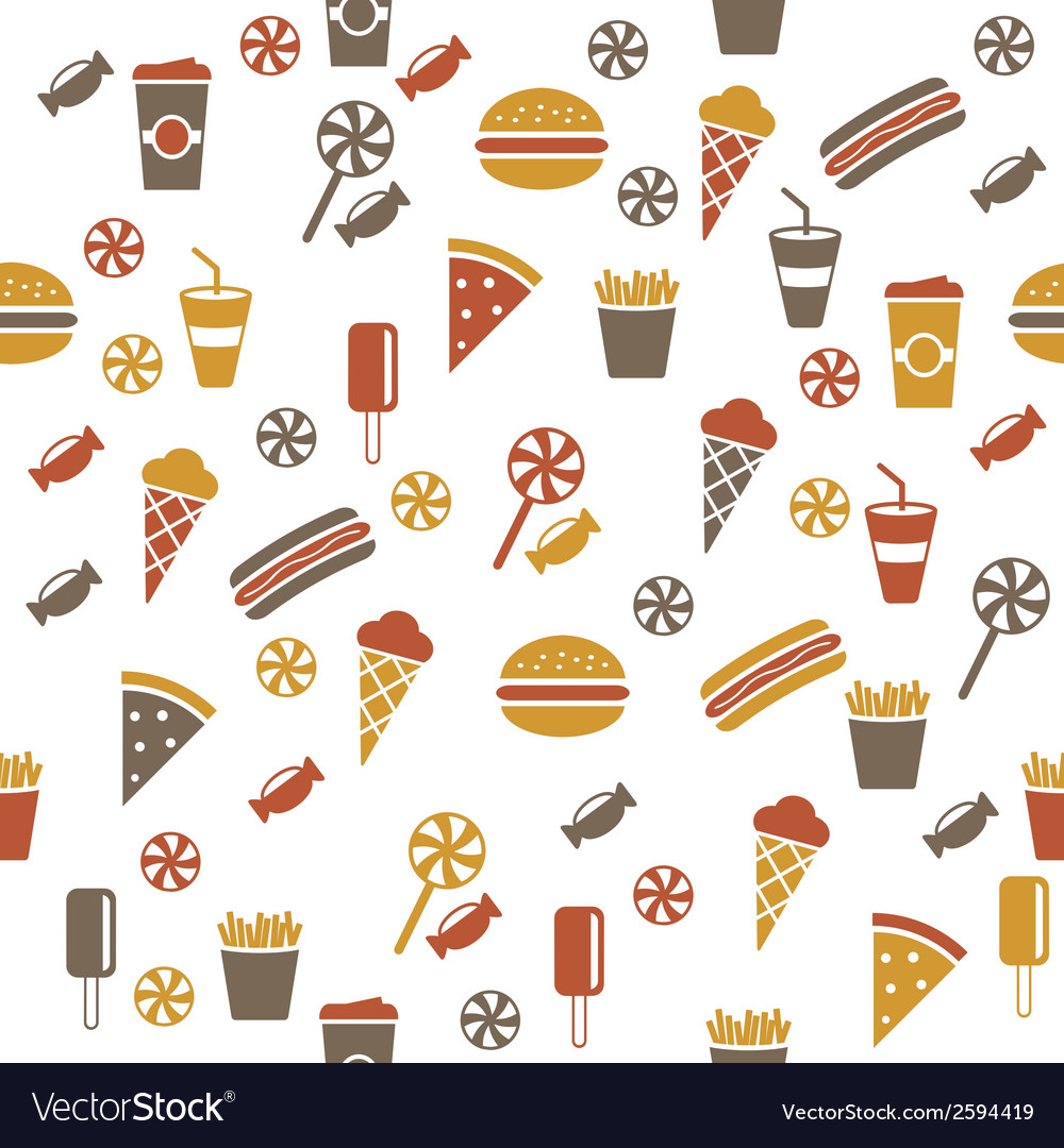 Snacks seamless pattern vector | Price: 1 Credit (USD $1)
