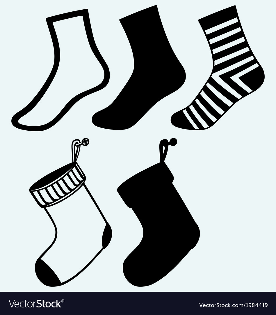 Socks and hristmas stocking vector | Price: 1 Credit (USD $1)