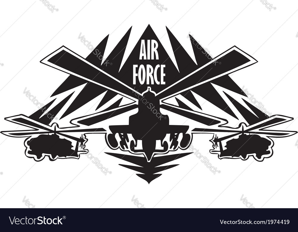 Us air force - military design vector | Price: 1 Credit (USD $1)