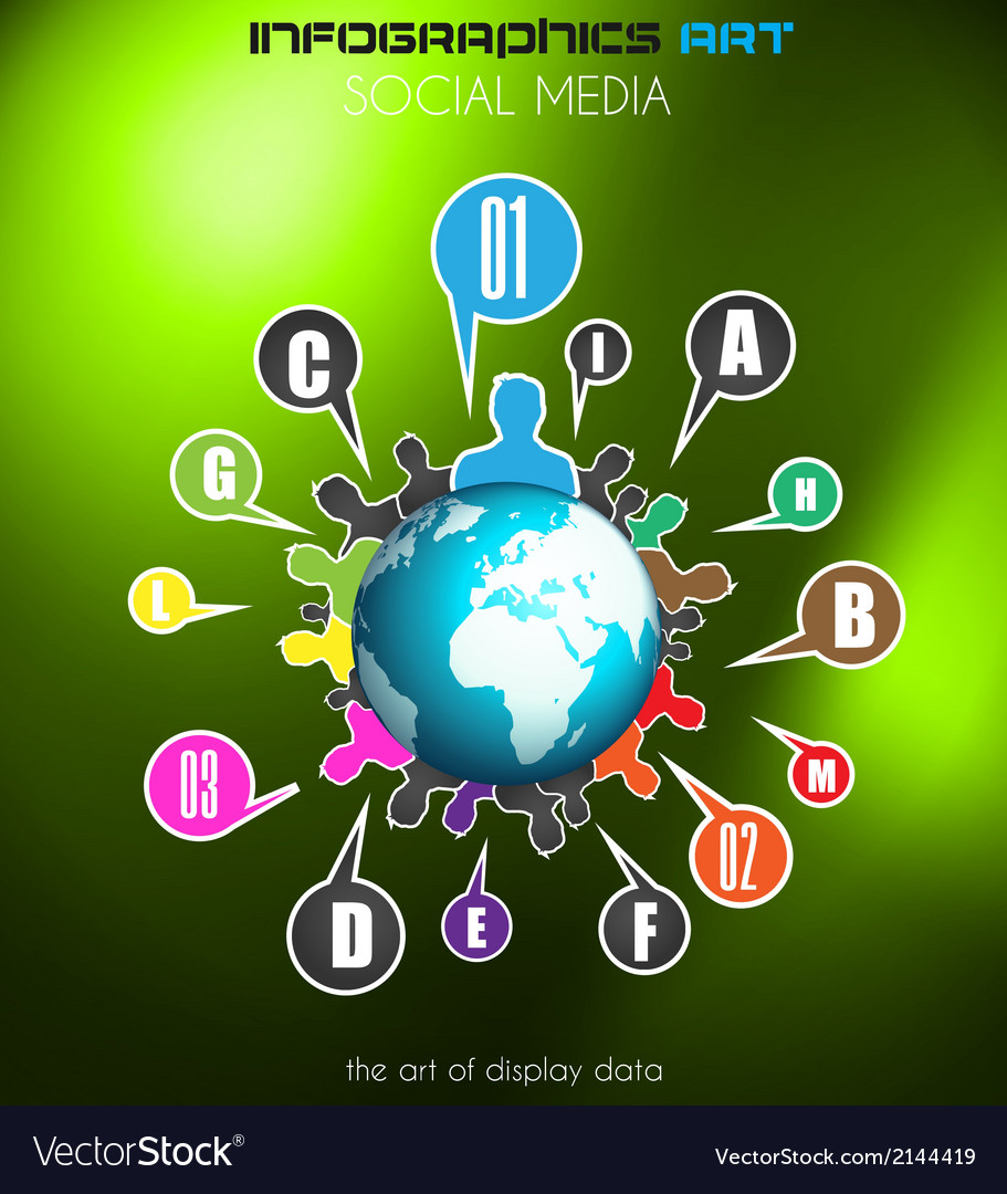 Worldwide communication and social media concept vector | Price: 1 Credit (USD $1)