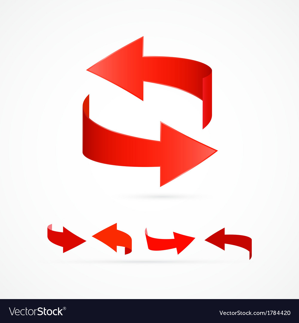 Abstract 3d red arrow icons vector | Price: 1 Credit (USD $1)